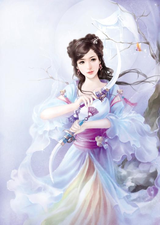 古装魔幻美女手绘