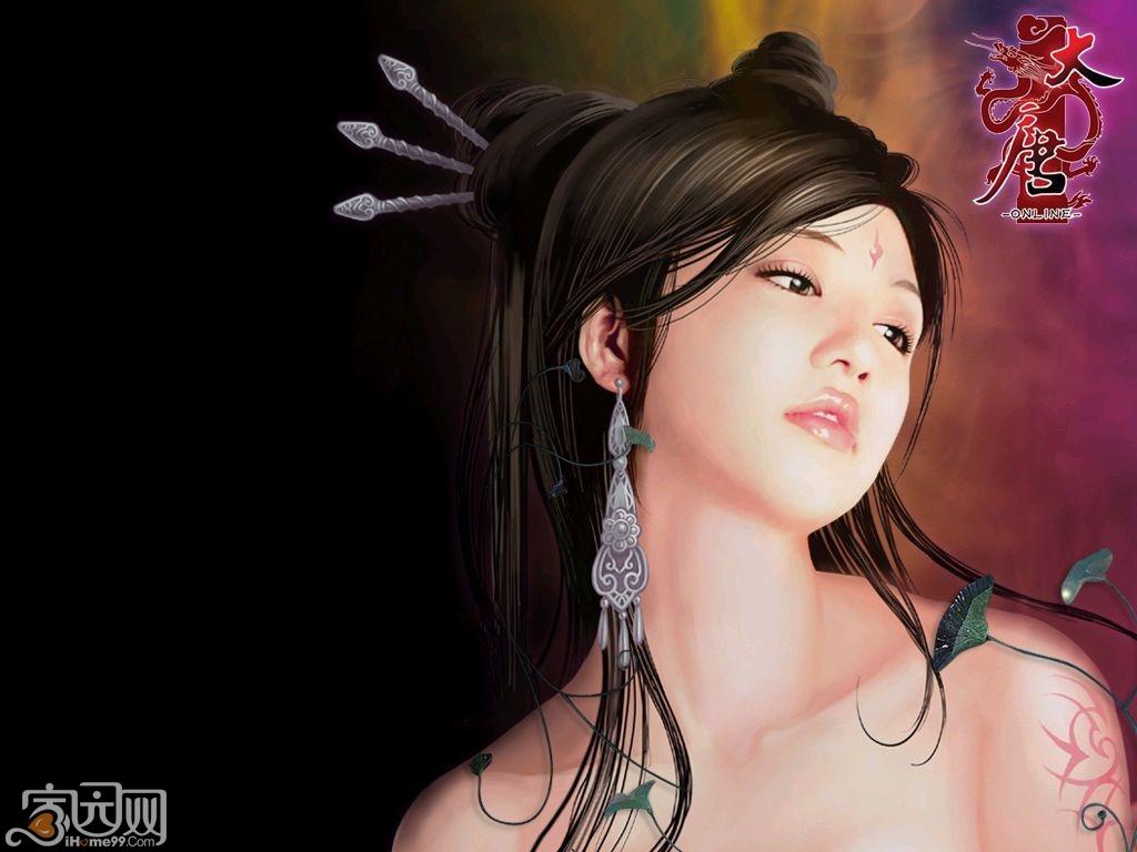王妃 古装 手绘图