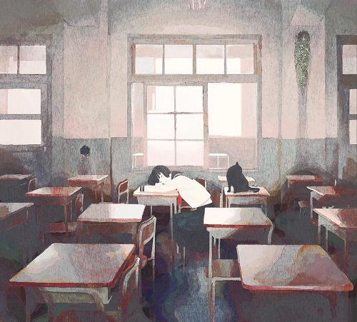 Empty Classroom Anime Wallpaper HD Wallpapers Download