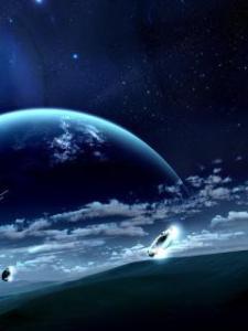 藍色星空下