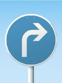 下个路口右转