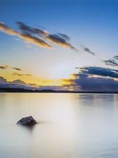 日出水平線