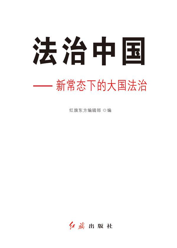 法治中国:新常态下的大国法治